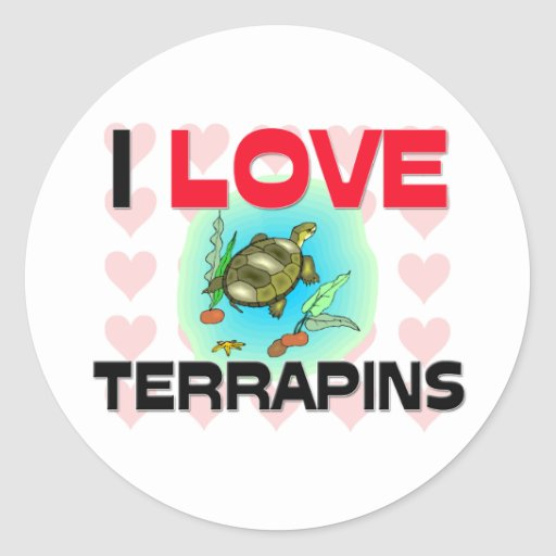 I Love Terrapins Classic Round Sticker