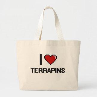I love Terrapins Digital Design Jumbo Tote Bag