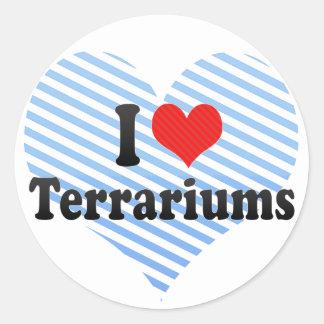 I Love Terrariums Classic Round Sticker