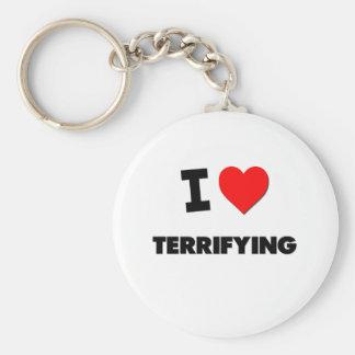 I love Terrifying Basic Round Button Keychain