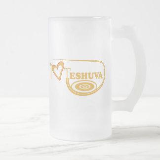 I Love Teshuva 16 Oz Frosted Glass Beer Mug