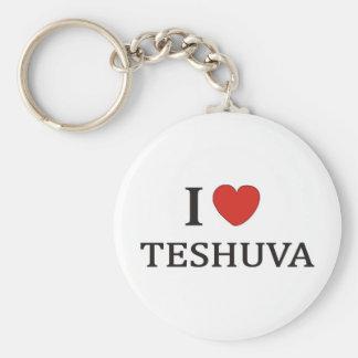I Love Teshuva Basic Round Button Keychain