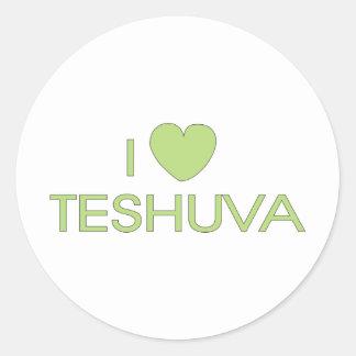 I Love Teshuva Classic Round Sticker