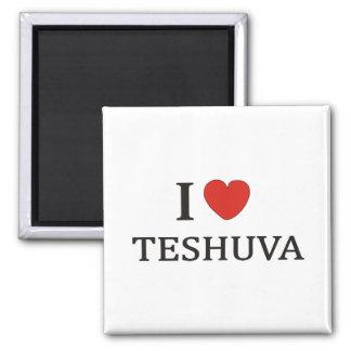 I LOVE TESHUVA NY 2 INCH SQUARE MAGNET