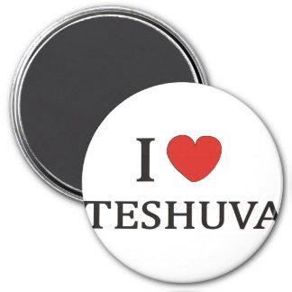 I LOVE TESHUVA NY 3 INCH ROUND MAGNET