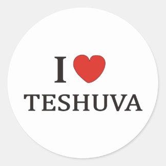 I LOVE TESHUVA NY CLASSIC ROUND STICKER