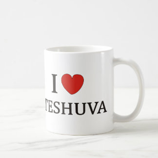 I LOVE TESHUVA NY CLASSIC WHITE COFFEE MUG
