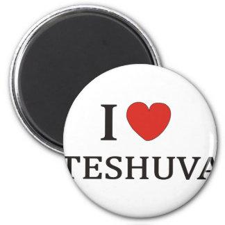 I LOVE TESHUVA NY 2 INCH ROUND MAGNET