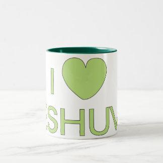 I Love Teshuva Two-Tone Coffee Mug