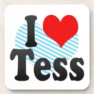 I love Tess Beverage Coasters
