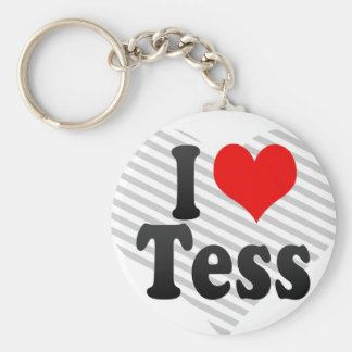 I love Tess Key Chains