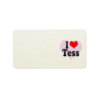 I love Tess Address Label