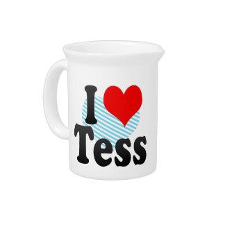 I love Tess Drink Pitcher