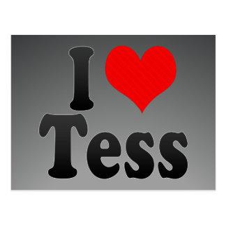 I love Tess Postcard