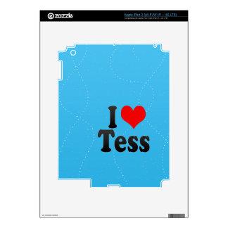 I love Tess iPad 3 Decals