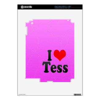 I love Tess Decal For iPad 2