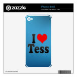 I love Tess Skin For iPhone 4S