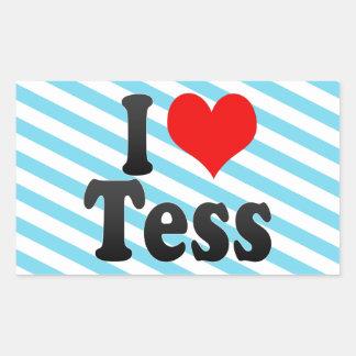 I love Tess Rectangular Sticker