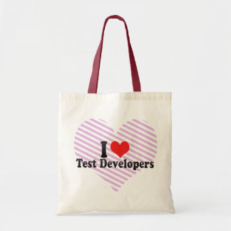 I Love Test Developers Bags