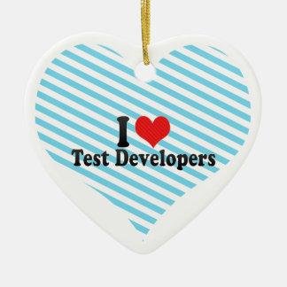 I Love Test Developers Christmas Tree Ornament