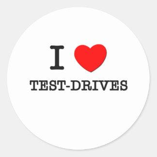 I Love Test-Drives Sticker