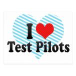I Love Test Pilots Postcards