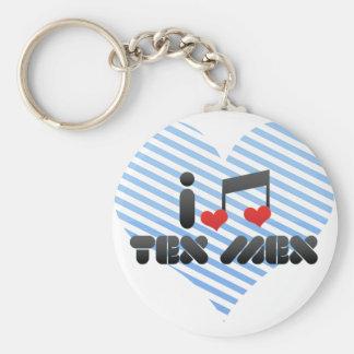 I Love Tex Mex Basic Round Button Keychain