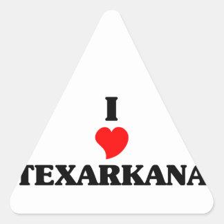 I love Texarkana Ar Triangle Sticker