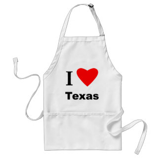 I Love Texas Adult Apron