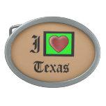 """I Love Texas American Fashion Belt Buckle"""