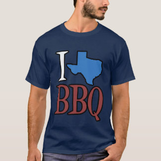 I Love Texas BBQ T-Shirt