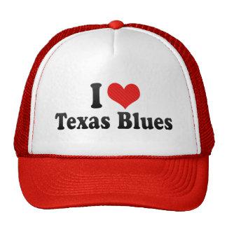 I Love Texas Blues Mesh Hat