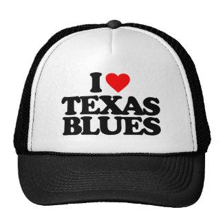 I LOVE TEXAS BLUES TRUCKER HAT