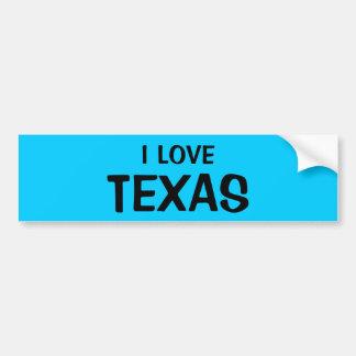 I LOVE TEXAS BUMPERSTICKERS CAR BUMPER STICKER