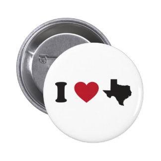 I Love Texas Button