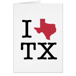 I Love texas Card
