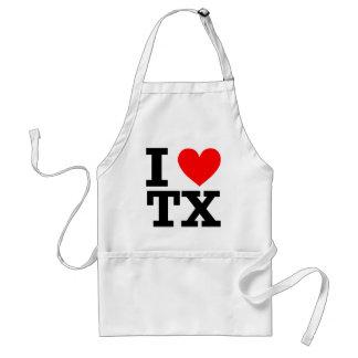 I Love Texas Design Adult Apron