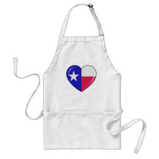 I Love Texas - Heart of Patriotic Texan Adult Apron