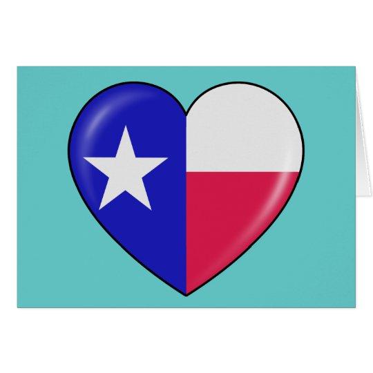 I Love Texas - Heart of Patriotic Texan Card