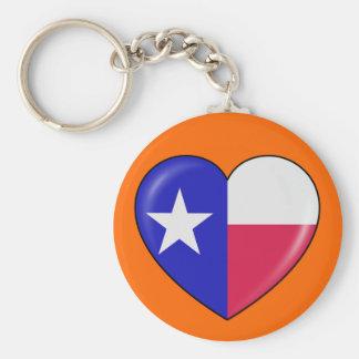 I Love Texas - Heart of Patriotic Texan Keychain