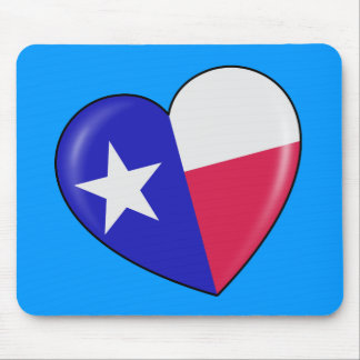 I Love Texas - Heart of Patriotic Texan Mouse Pad