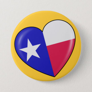 I Love Texas - Heart of Patriotic Texan Pinback Button