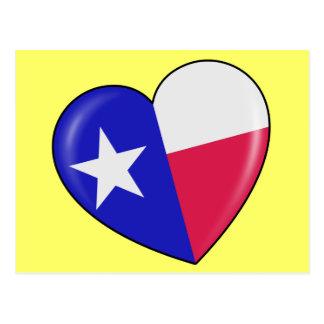 I Love Texas - Heart of Patriotic Texan Postcard