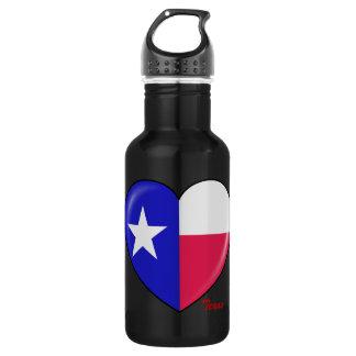I Love Texas - Heart of Patriotic Texan Water Bottle
