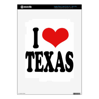 I Love Texas iPad 3 Decal