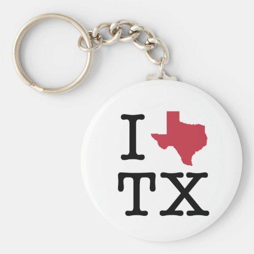 I Love texas Keychain