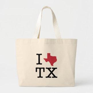 I Love texas Large Tote Bag