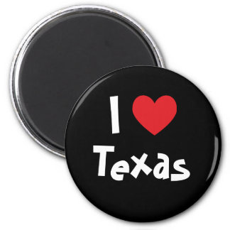 I Love Texas 2 Inch Round Magnet