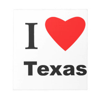 I Love Texas Notepad