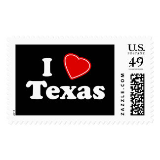 I Love Texas Stamps